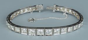 Lot 50: 14k Diamond Line Bracelet