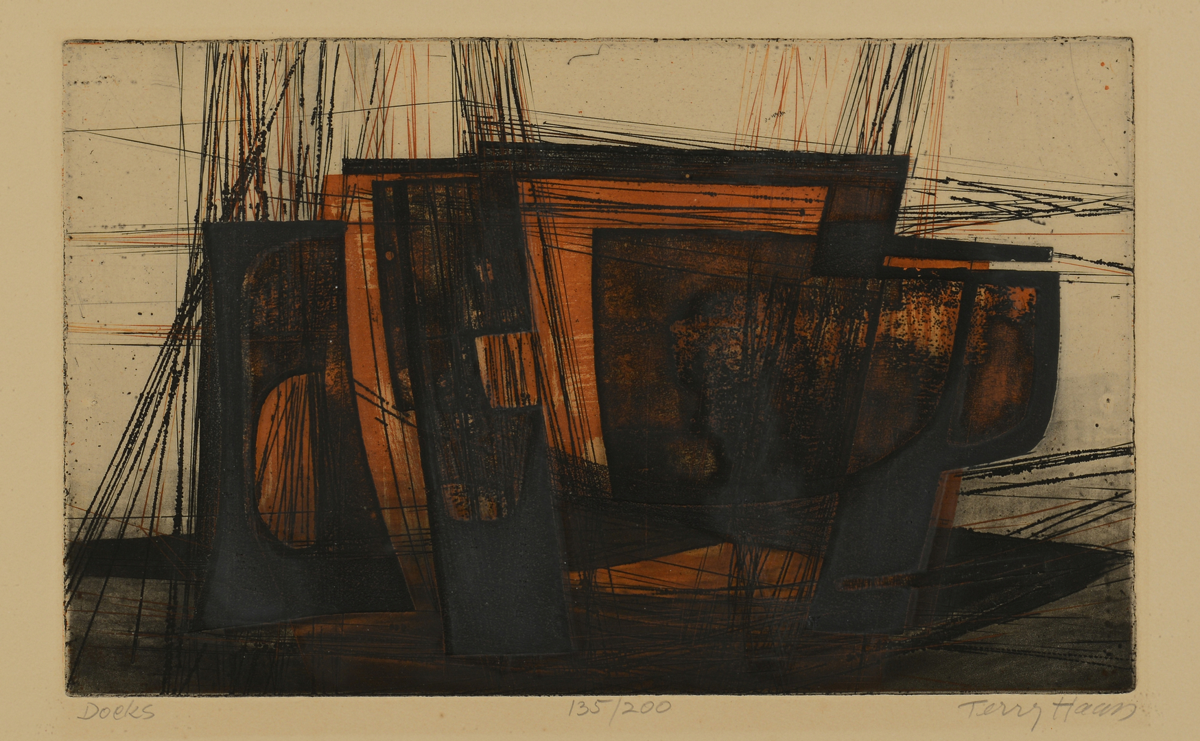 Lot 511: Terry Haas Colored Etchings
