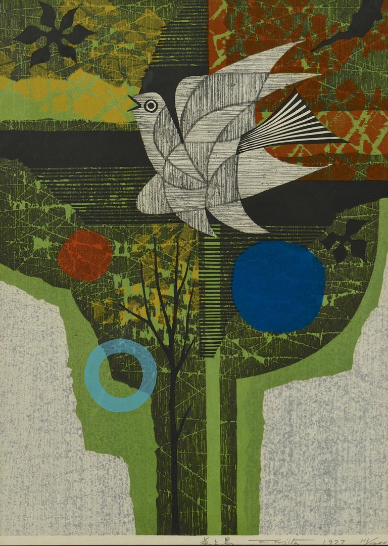 Lot 512: F. Fujita (3) Woodblock Prints