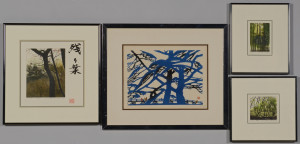 Lot 513: Shogo Okamoto Colored Etchings & Woodblock, 4 item