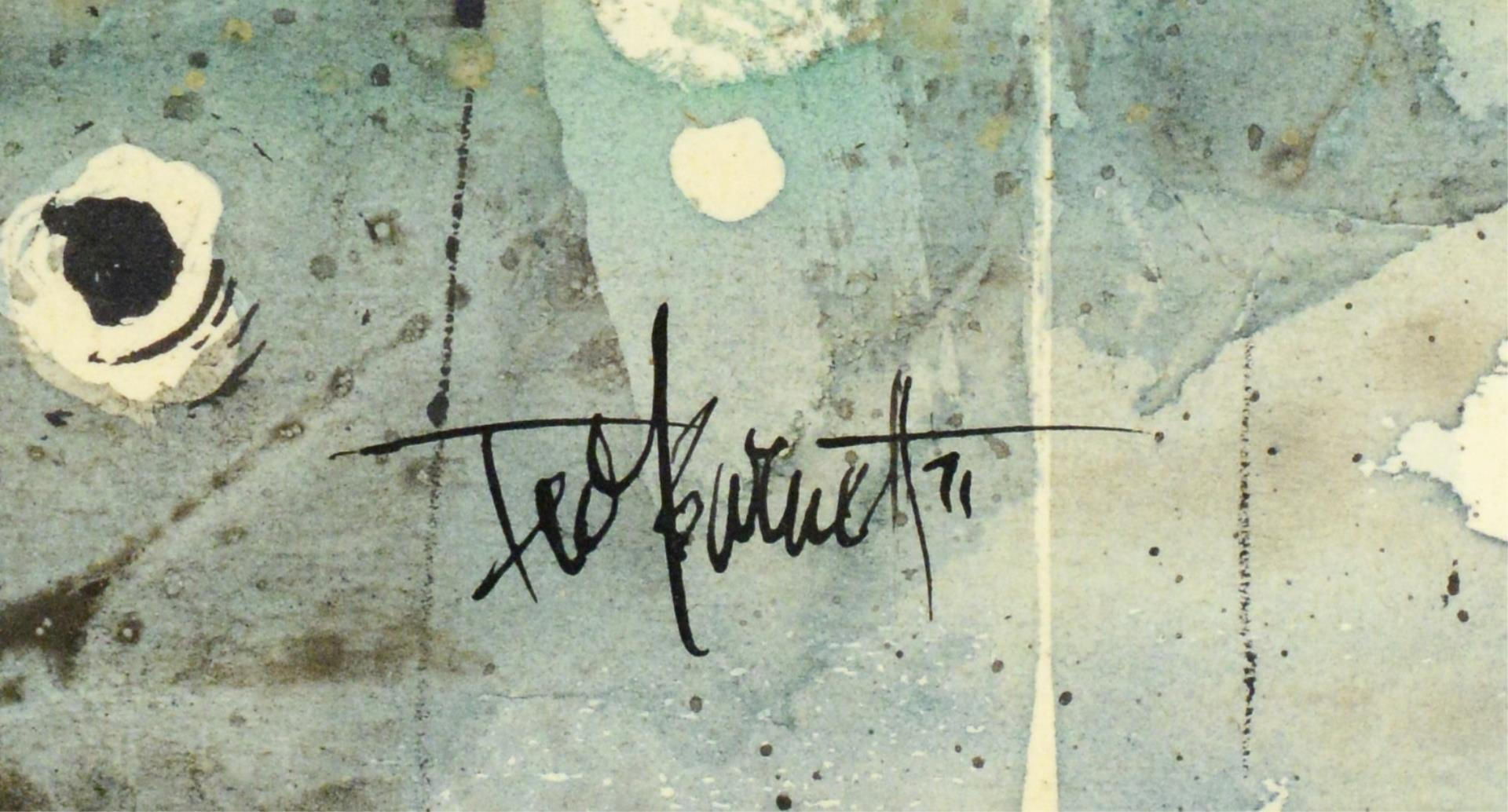 Lot 516: Ted Burnett Watercolor, Ships