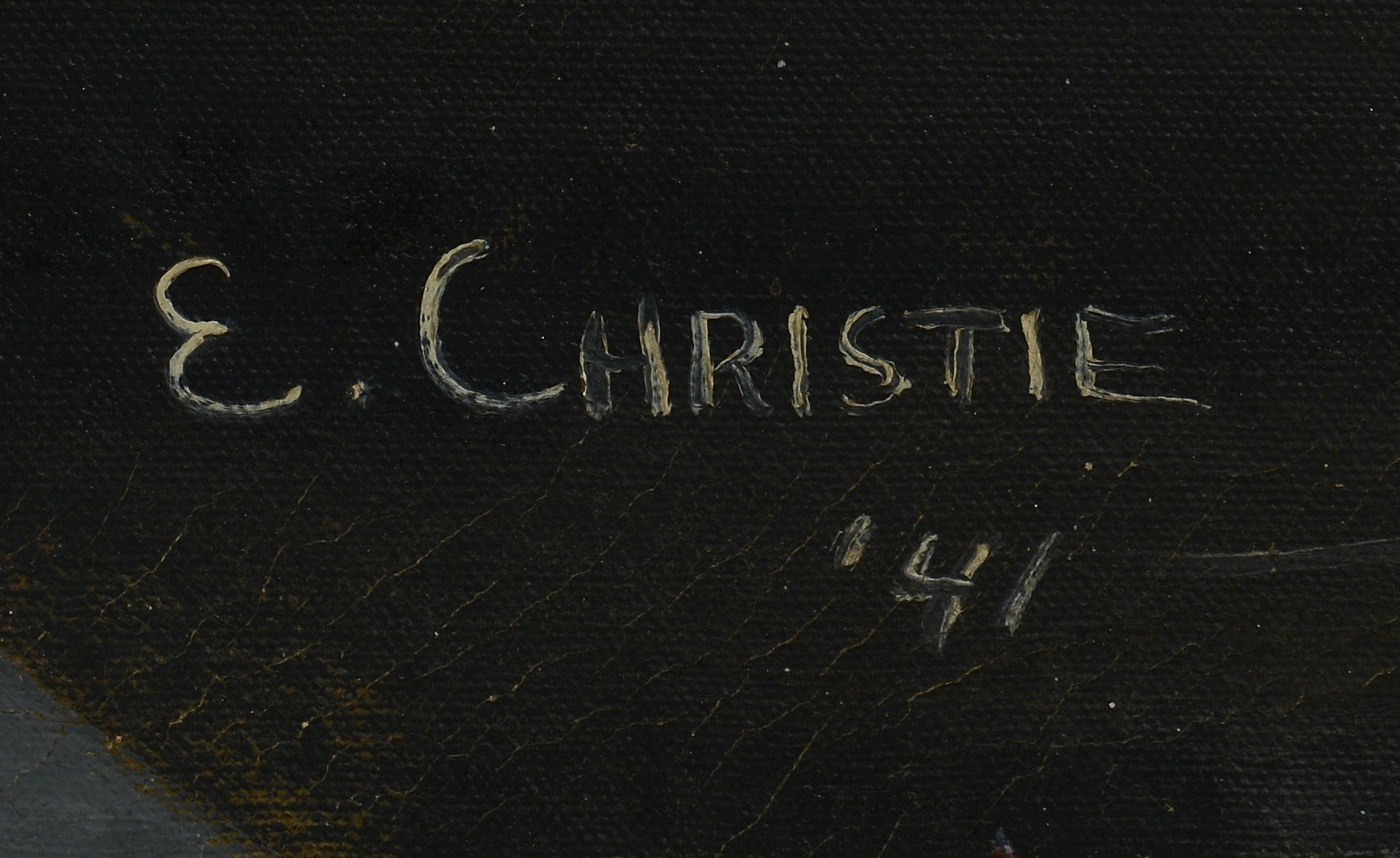 Lot 517: Abstract War Oil, E. Christie