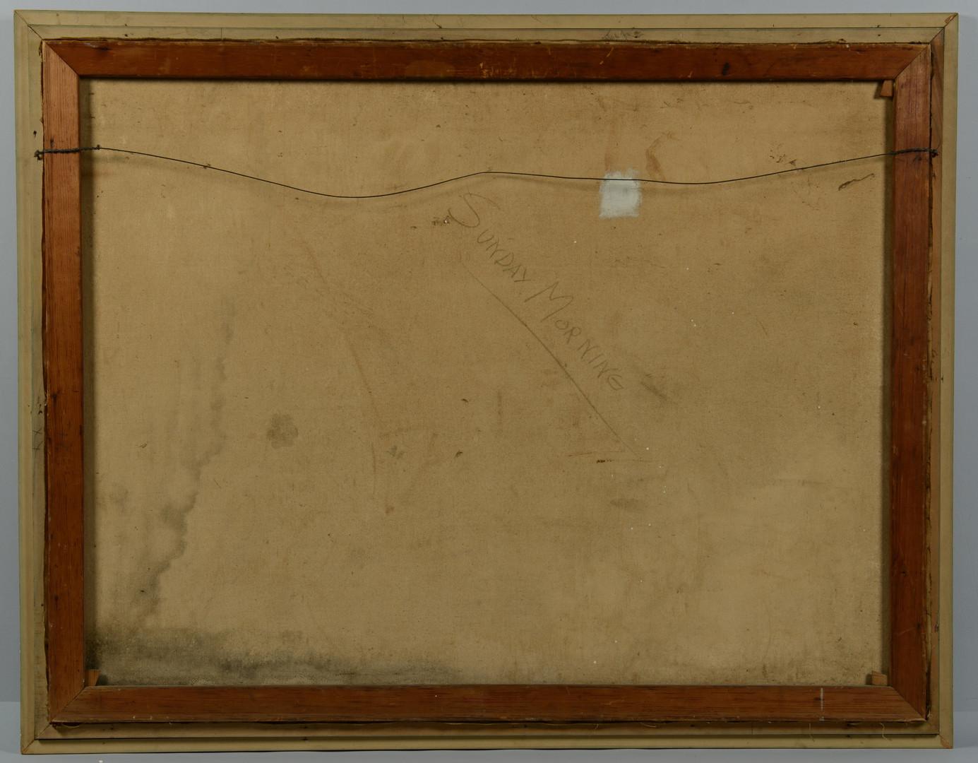 Lot 517: Abstract War Oil, E. Christie