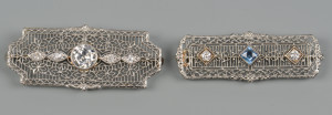Lot 51: 2 Vintage 14K Diamond Pins