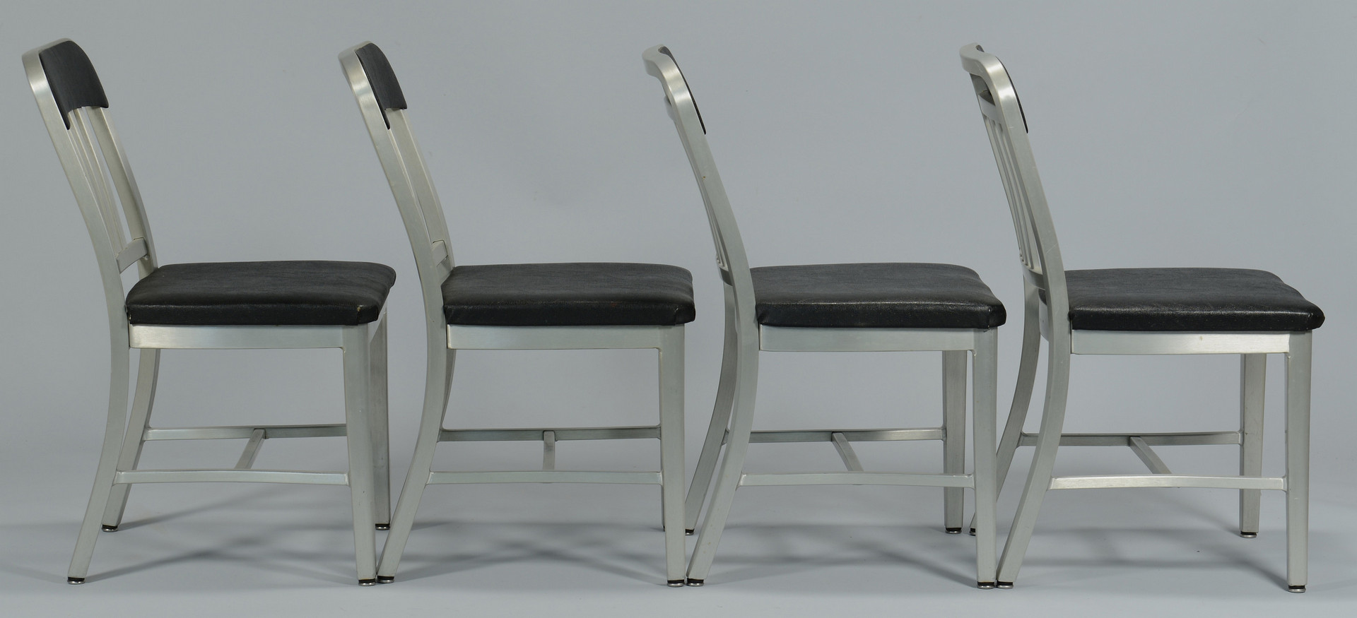 Lot 524: Set of 4 Emeco Navy Chairs