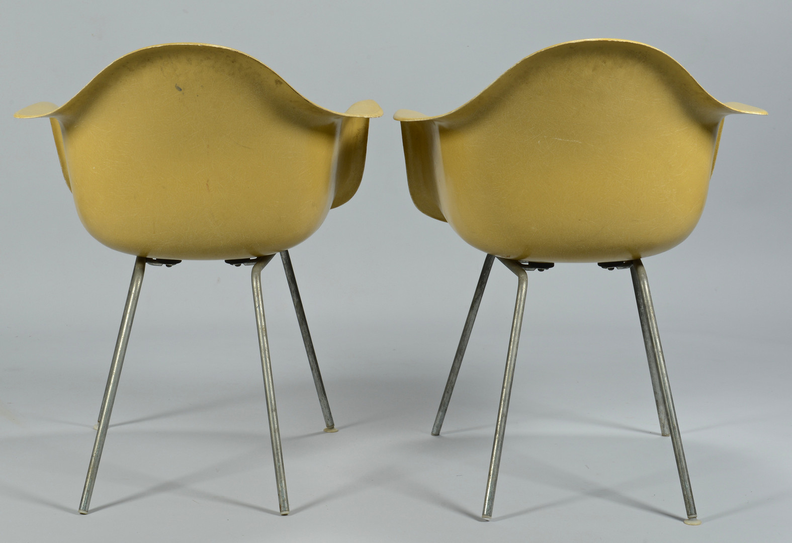 Lot 525: Pr. Mid-Century Modern Eames Chairs