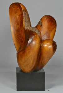 Lot 527: Abstract Modern Burl Wood Sculpture