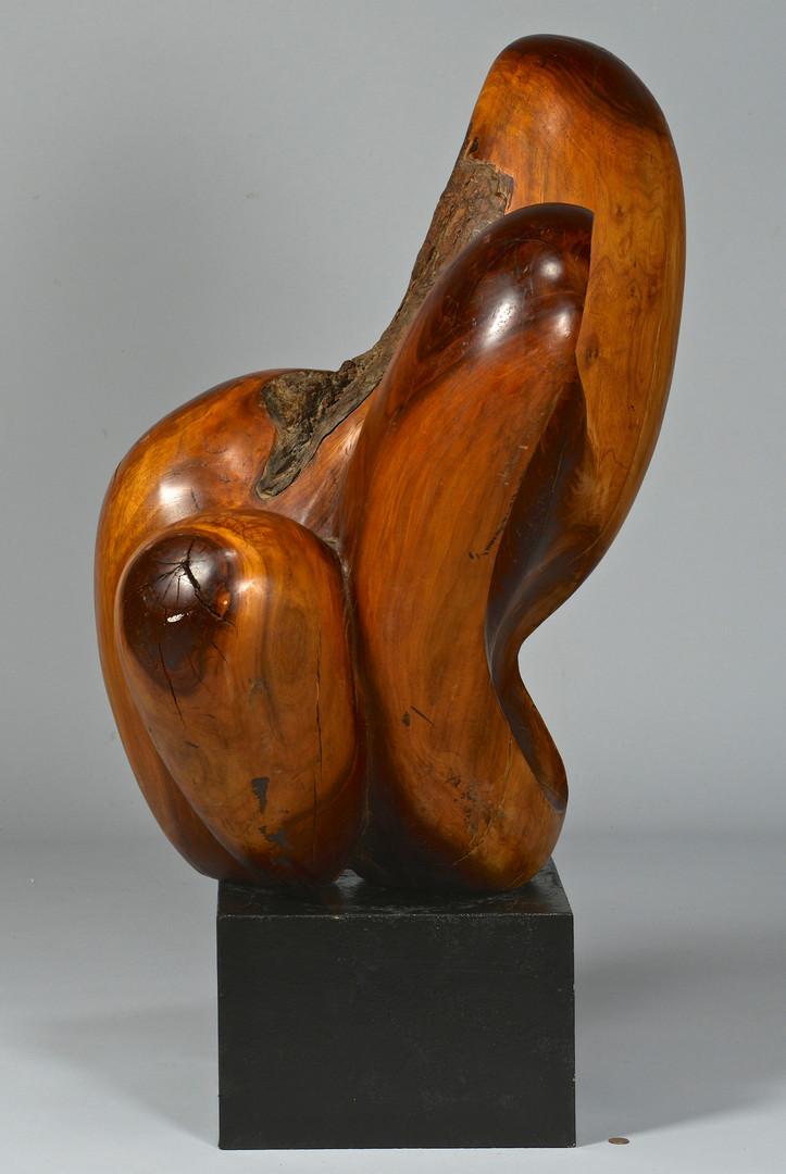 Lot 527: Abstract Modern Burl Wood Sculpture