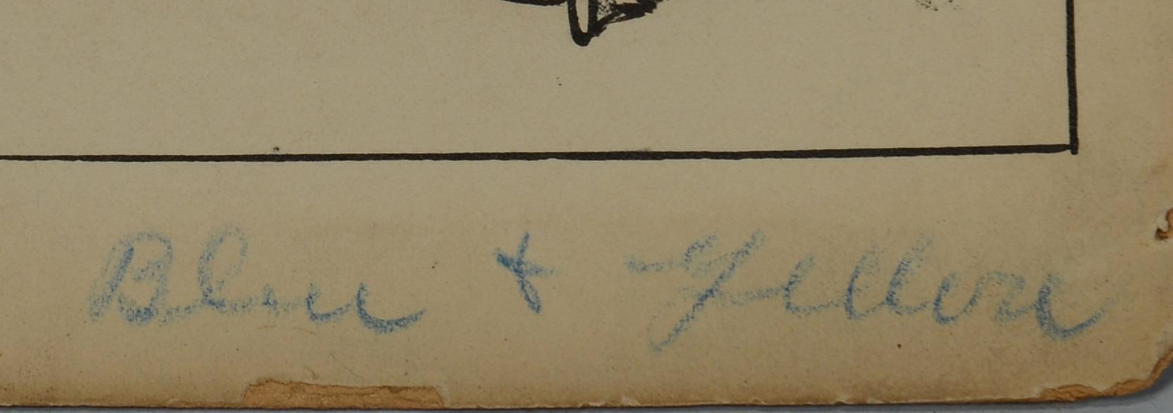 Lot 529: Louis Wisa Pen & Ink Illustration