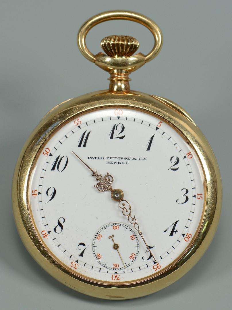 Lot 52: Patek Philippe 14k Pocketwatch