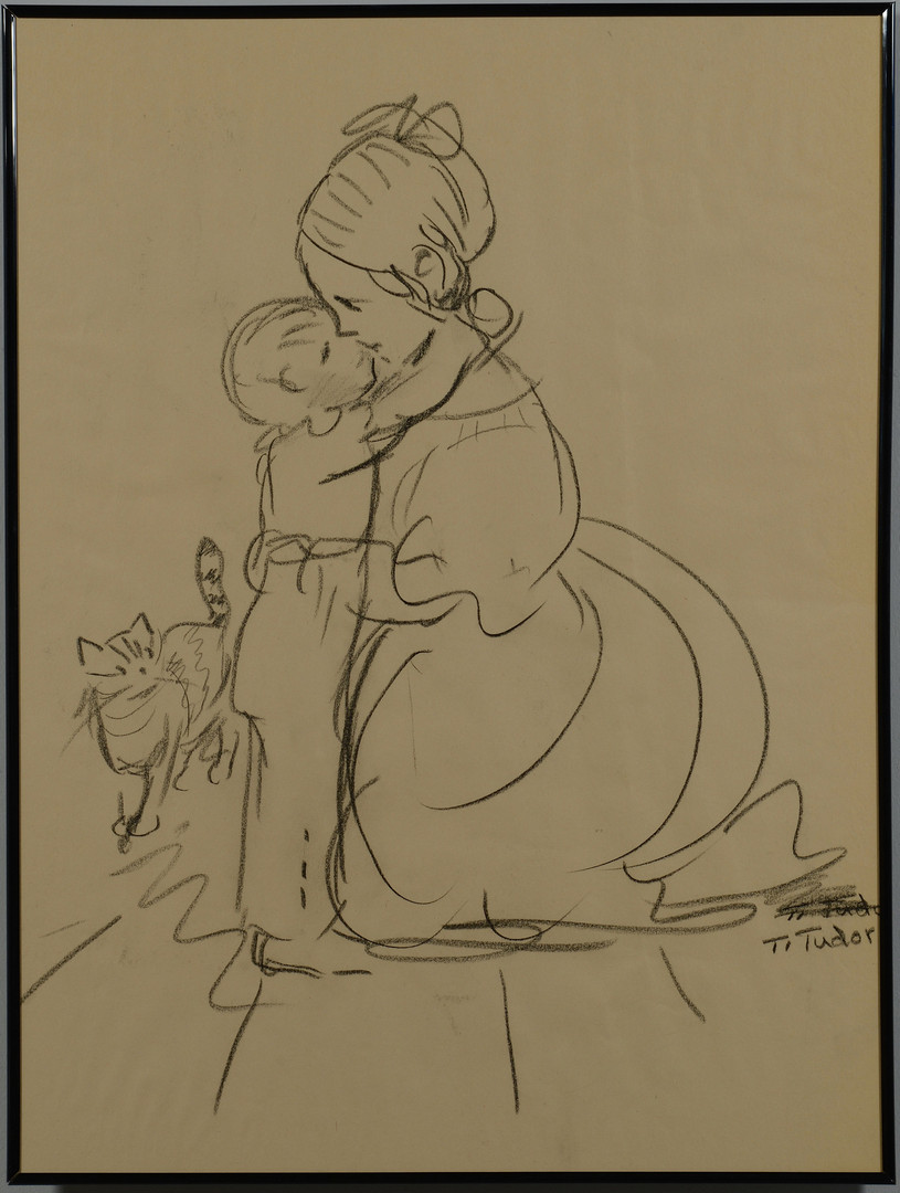 Lot 530: Tasha Tudor Original Drawing
