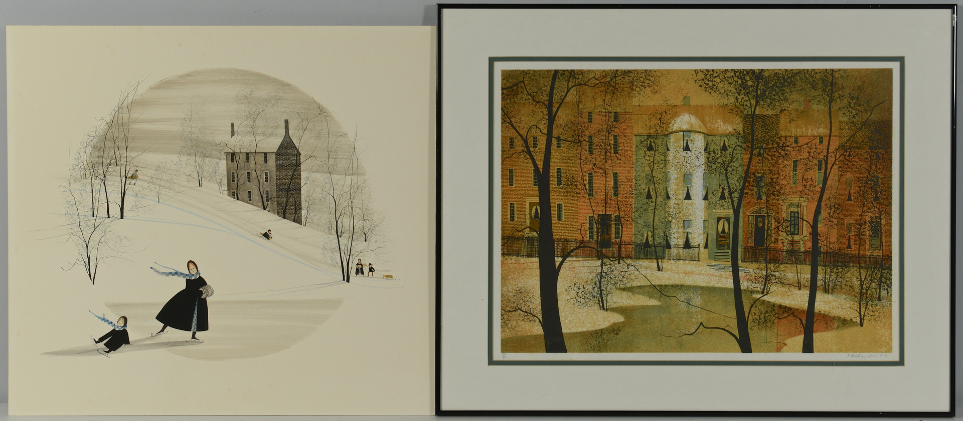 Lot 532: P. Buckley Moss Watercolor & Signed Print, 2 items