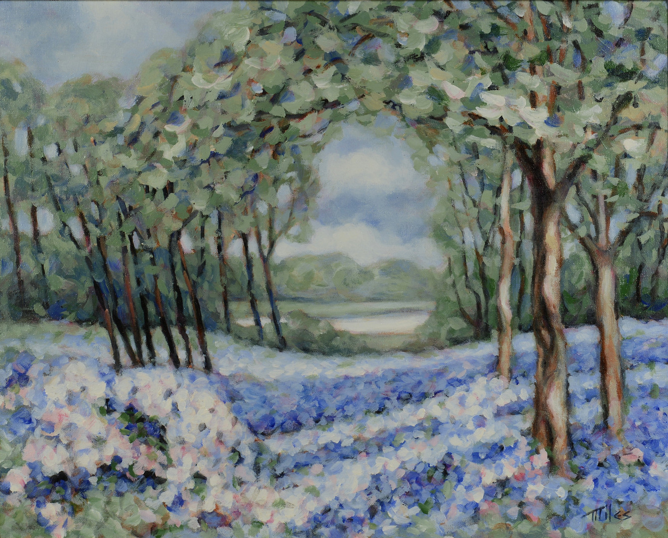 Lot 535: Matthew Miles o/c, Bluebonnets