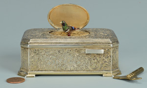 Lot 53: Silver Bird Automaton