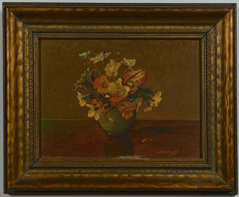 Lot 542: John Zwara o/b Still Life, bouquet in vase