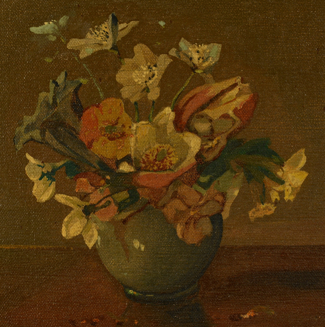 Lot 542: John Zwara o/b Still Life, bouquet in vase