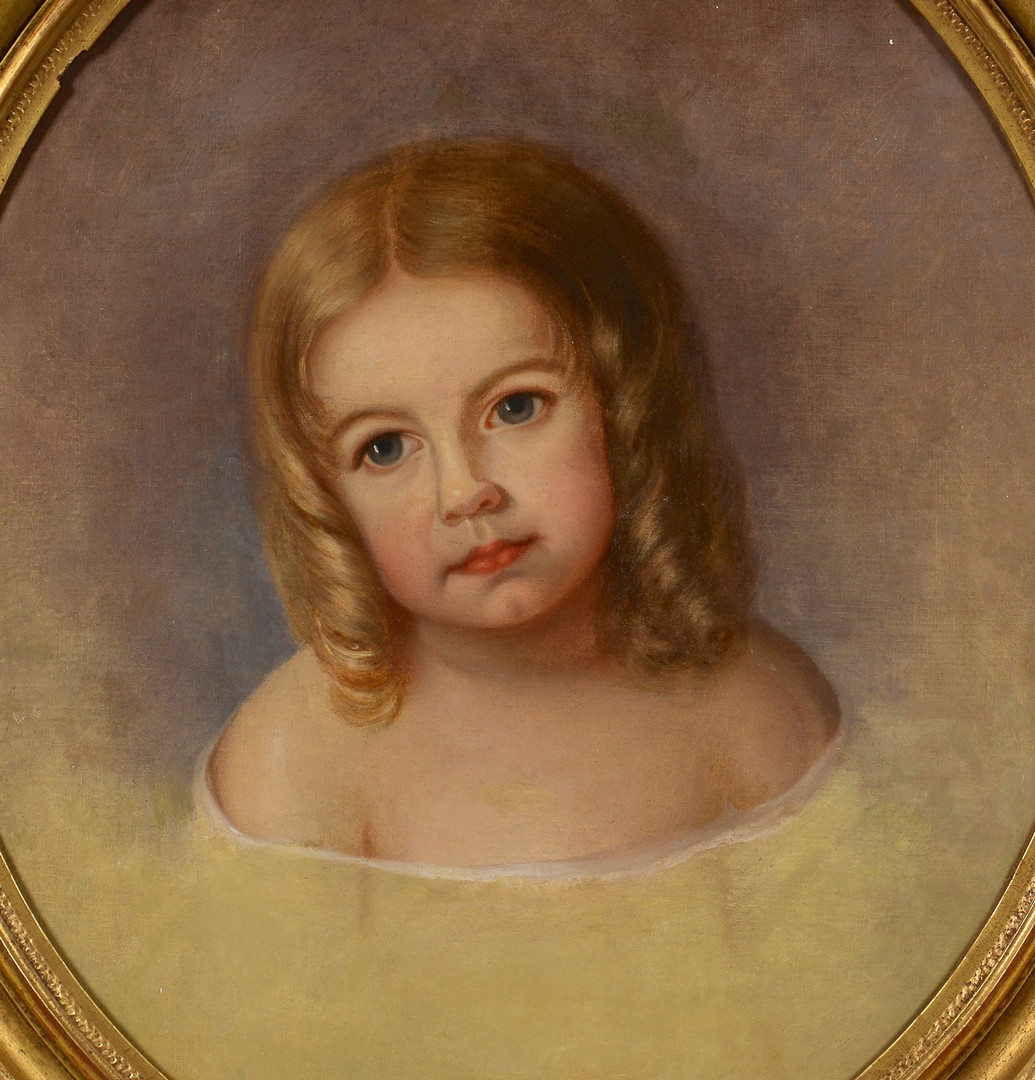 Lot 544: Mary Jane Peale o/c, child portrait