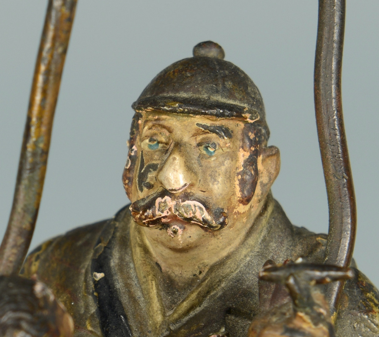 Lot 546: Cold Painted Bronze Figural Group, 2 men