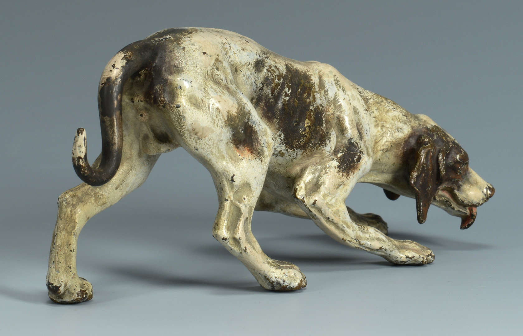 Lot 547: Cold Painted Bronze Dog