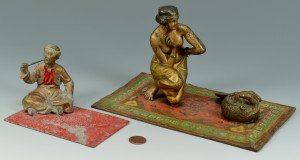 Lot 549: 2 Austrian Orientalist cold painted figures
