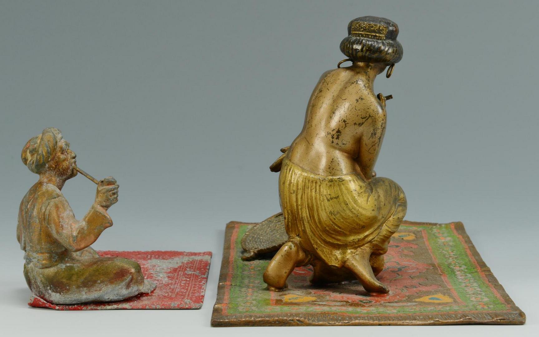 Lot 549: 2 Austrian Orientalist cold painted figures