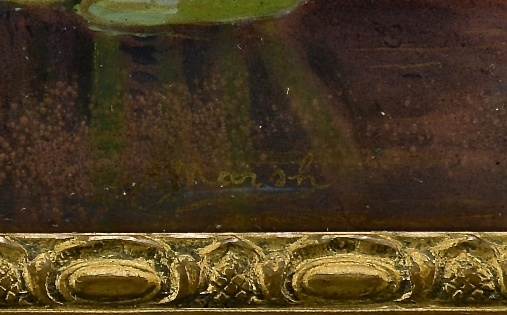 Lot 54: Limoges enamel on copper plaque, signed