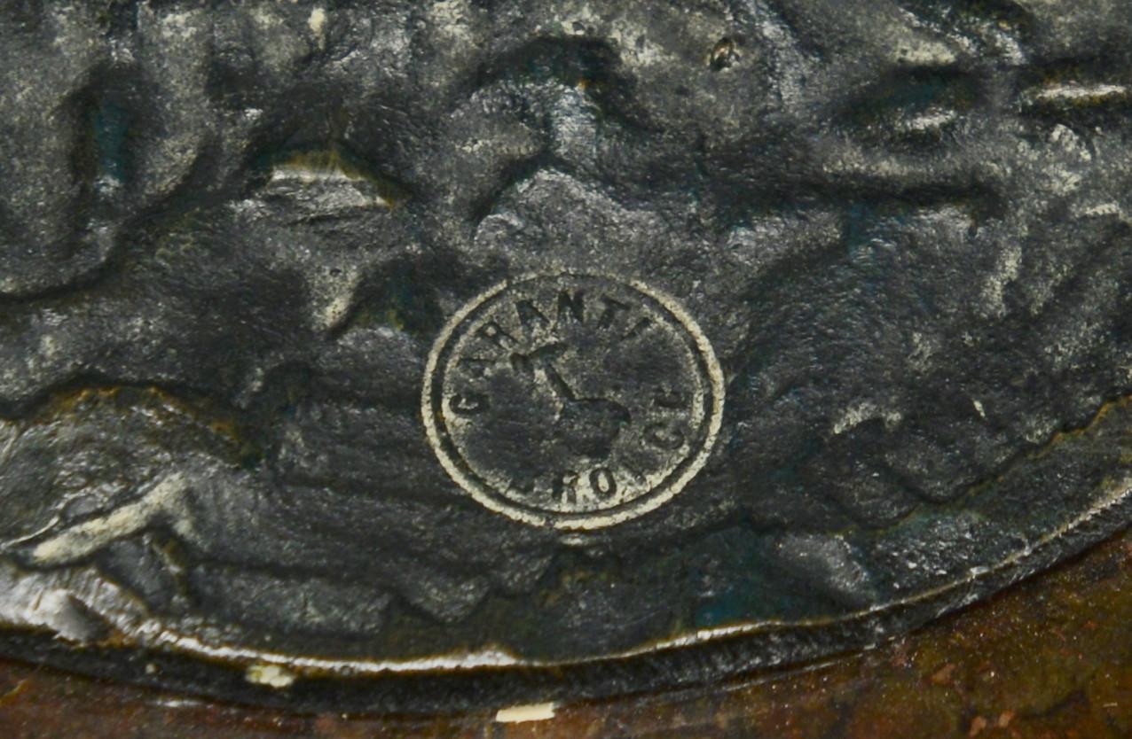 Lot 551: 2 Bronzes of Females & Snakes