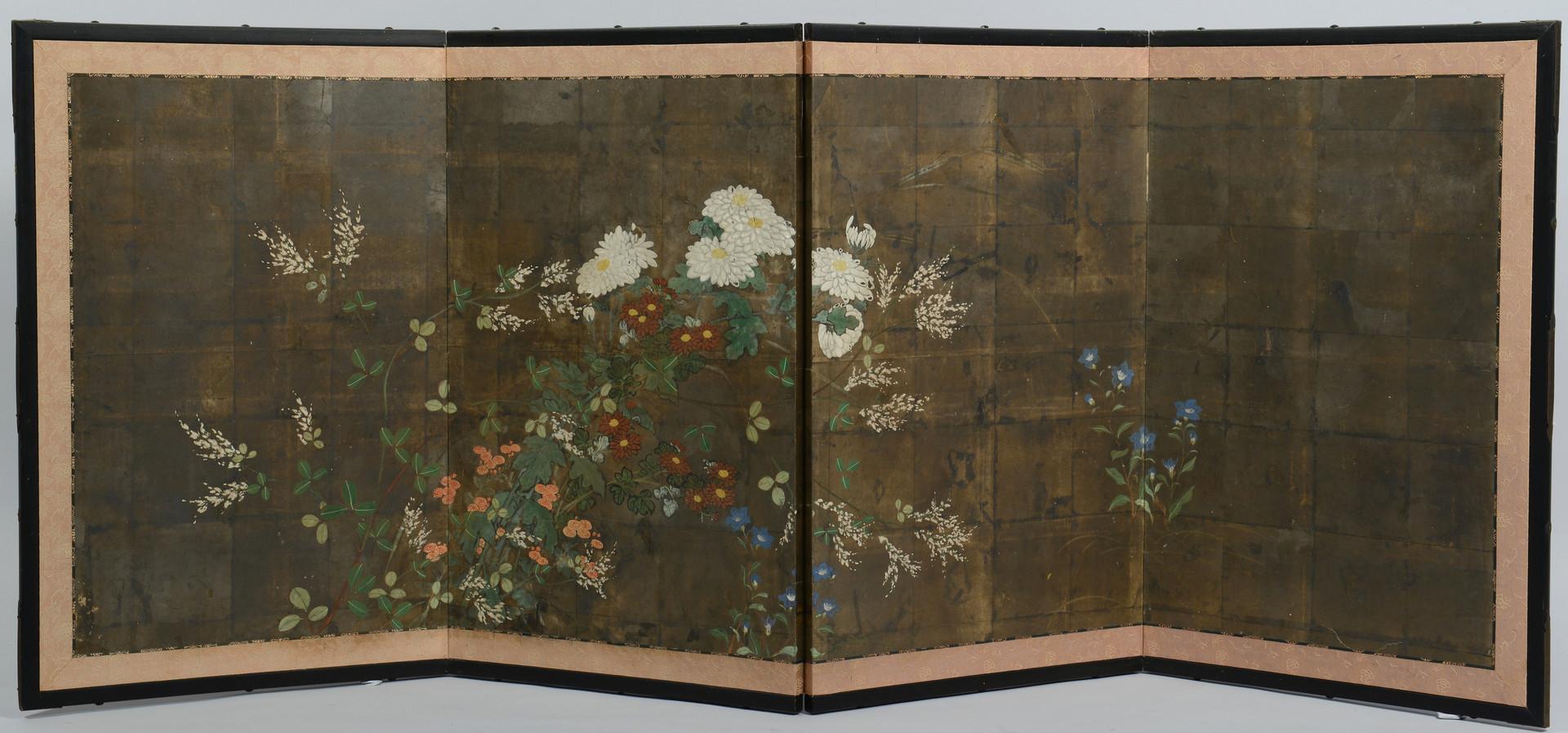 Lot 555: 4 Japanese Folding Screens