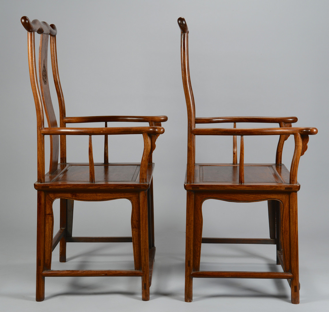 Lot 558: Pr. Chinese Yoke Back Chairs