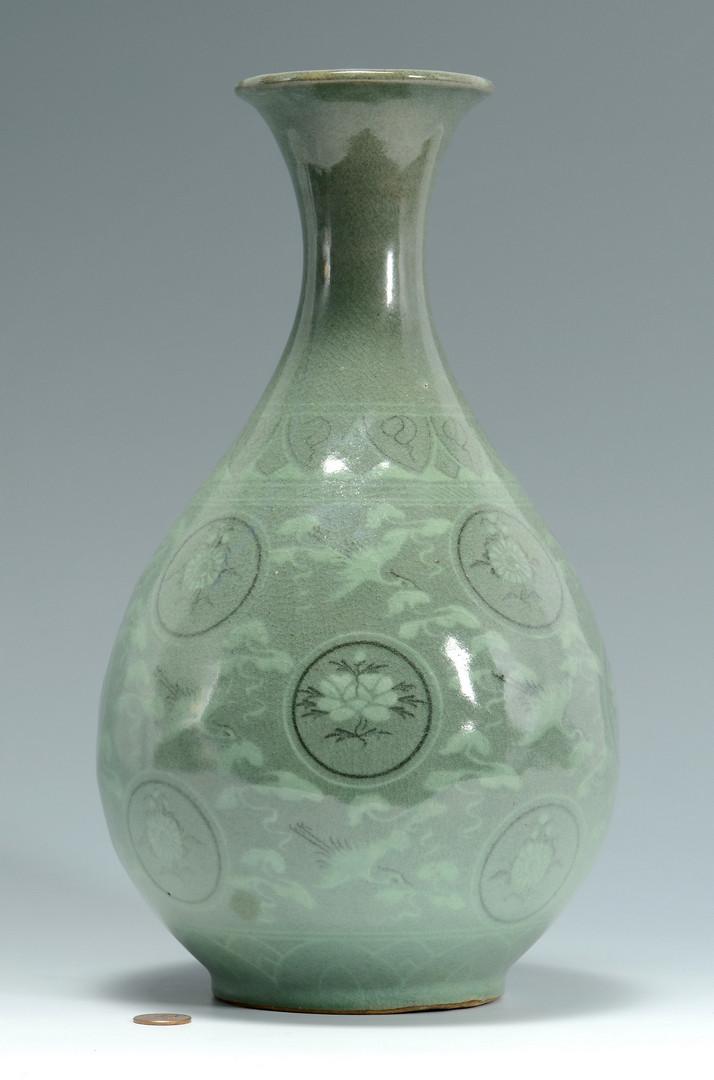 Lot 567 Korean Celadon Glazed Vase