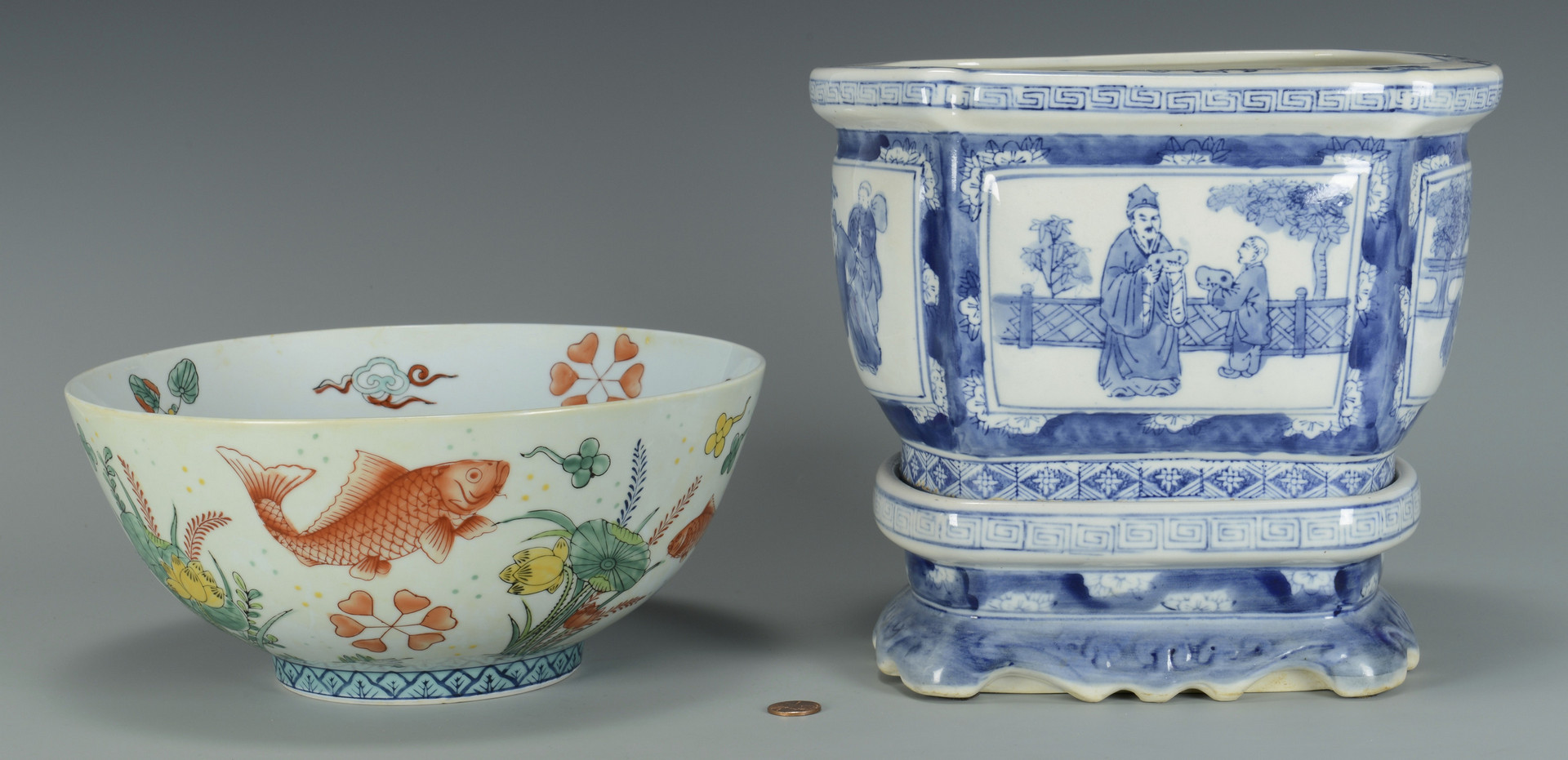 Lot 568 chinese fish bowl jardiniere for Chinese fish bowl