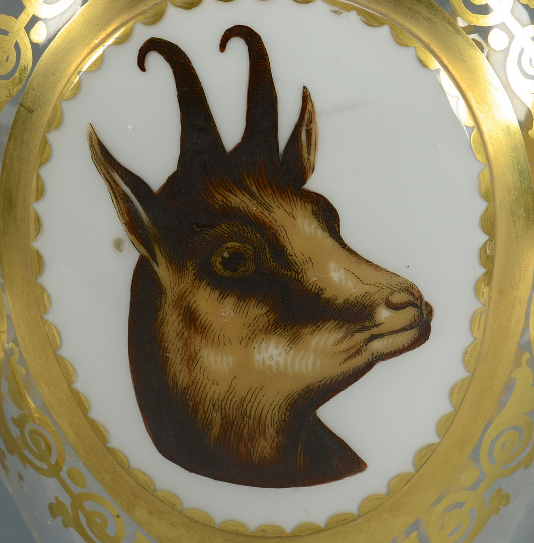 Lot 56: Bohemian Vases, Animal Vignettes