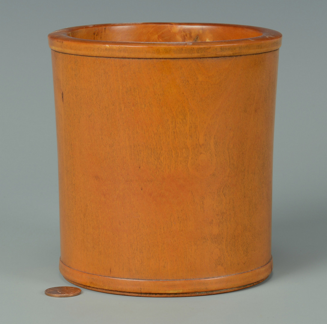 Lot 571: 2 Chinese Hardwood Brush Pots