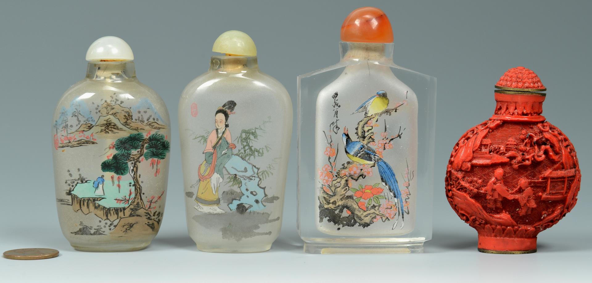 Lot 574: 4 Chinese Snuff Bottles
