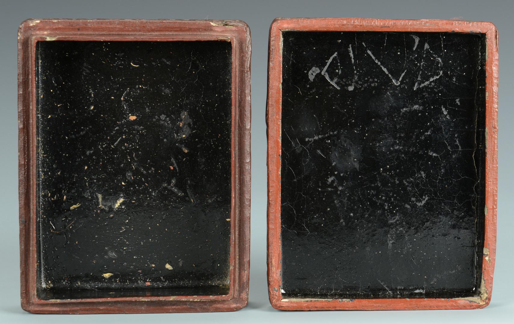 Lot 577: Carved Chinese Cinnabar Box