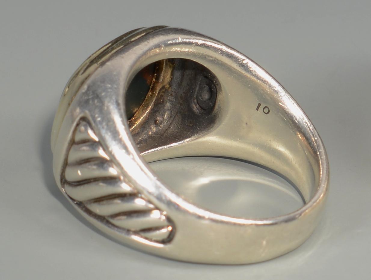 Lot 579: 5 David Yurman Signet Rings w/ stones