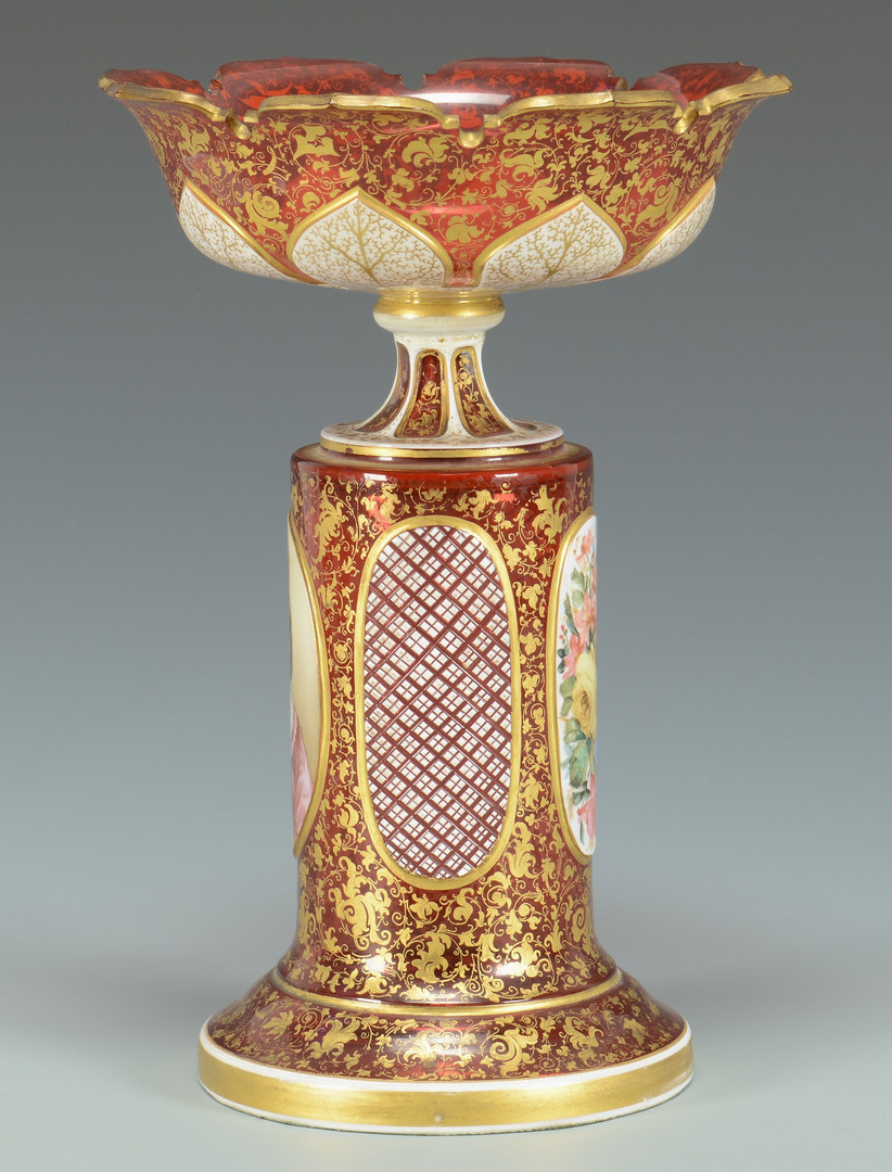 Lot 57: Bohemian Glass Portrait Compote
