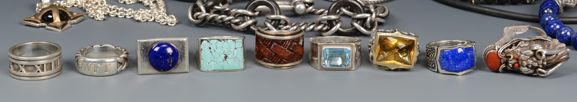 Lot 581: Group of Men's Designer Jewelry