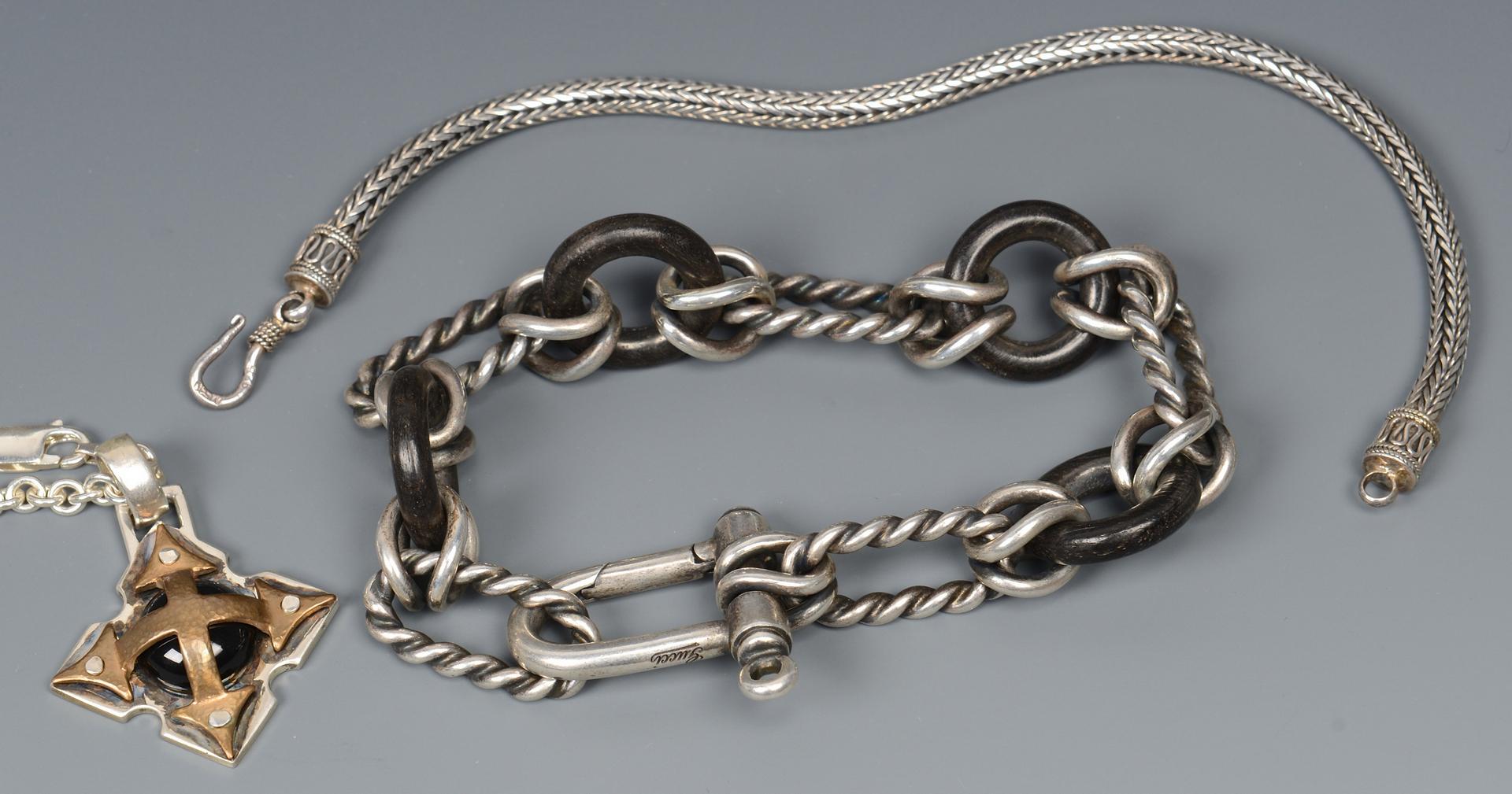 Lot 581: Group of Men's Designer Jewelry