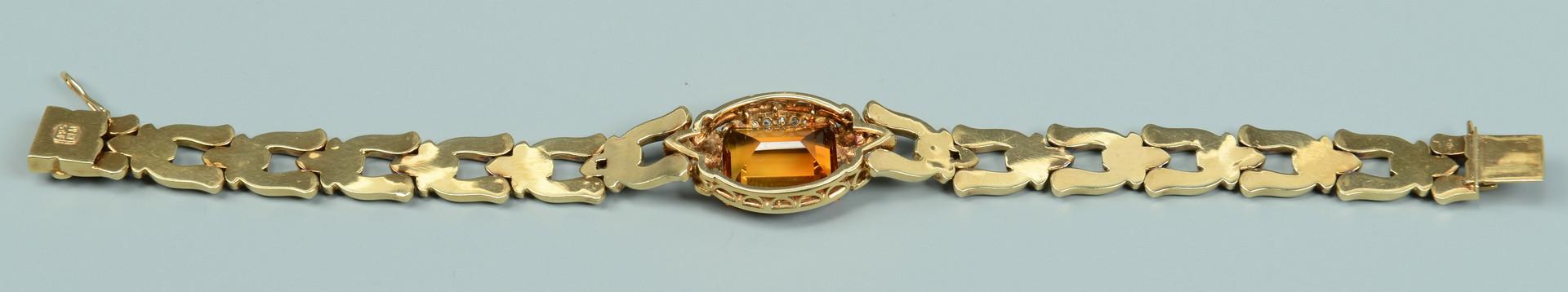 Lot 584: Lady's 14k Bracelet w/ Citrine