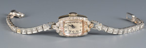 Lot 587: Hamilton Diamond Wristwatch