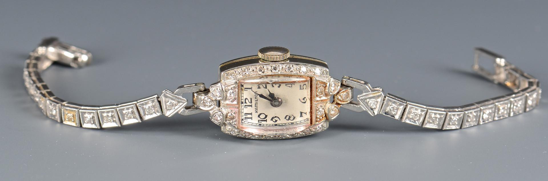 Lot 587: Hamilton Diamond Wristwatch