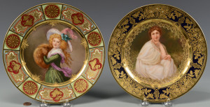Lot 58: 2 Female Portrait Plates