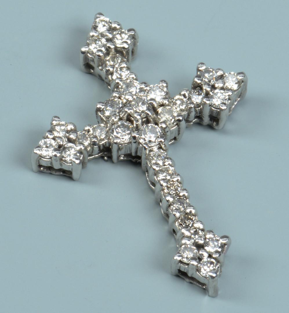 Lot 593: 2 Diamond Jewelry items