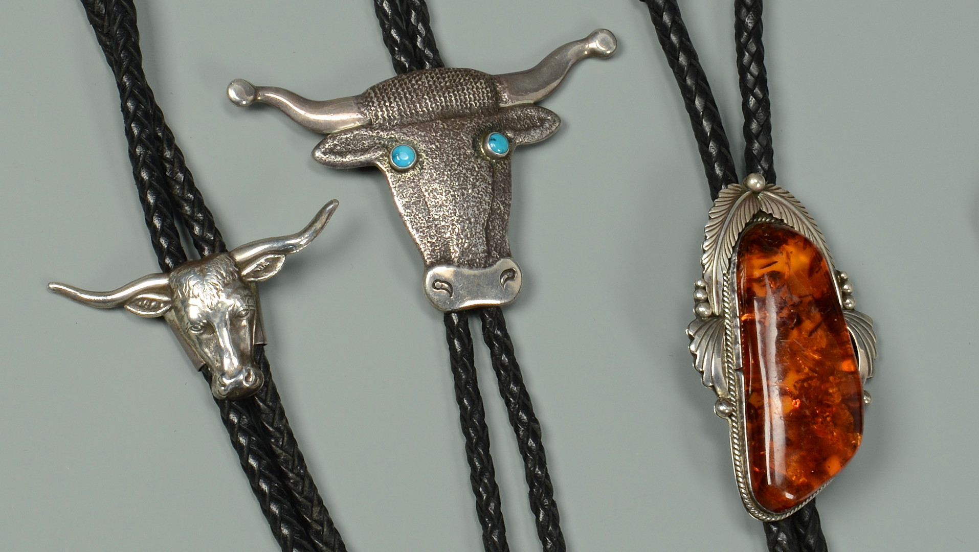 Lot 596: 6 Navajo Silver Bolos