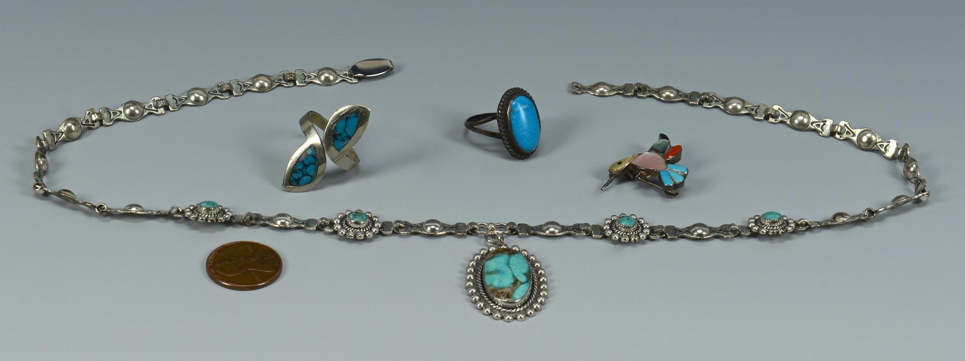 Lot 599: 4 pcs Southwestern Jewelry