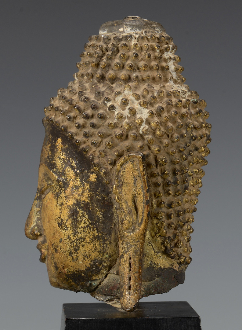Lot 5: Gilt Bronze Buddha Head
