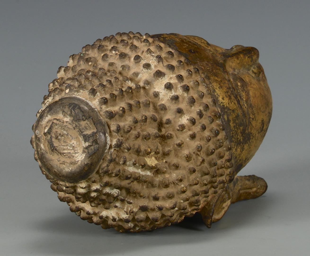 Lot 5: Gilt Bronze Buddha Head