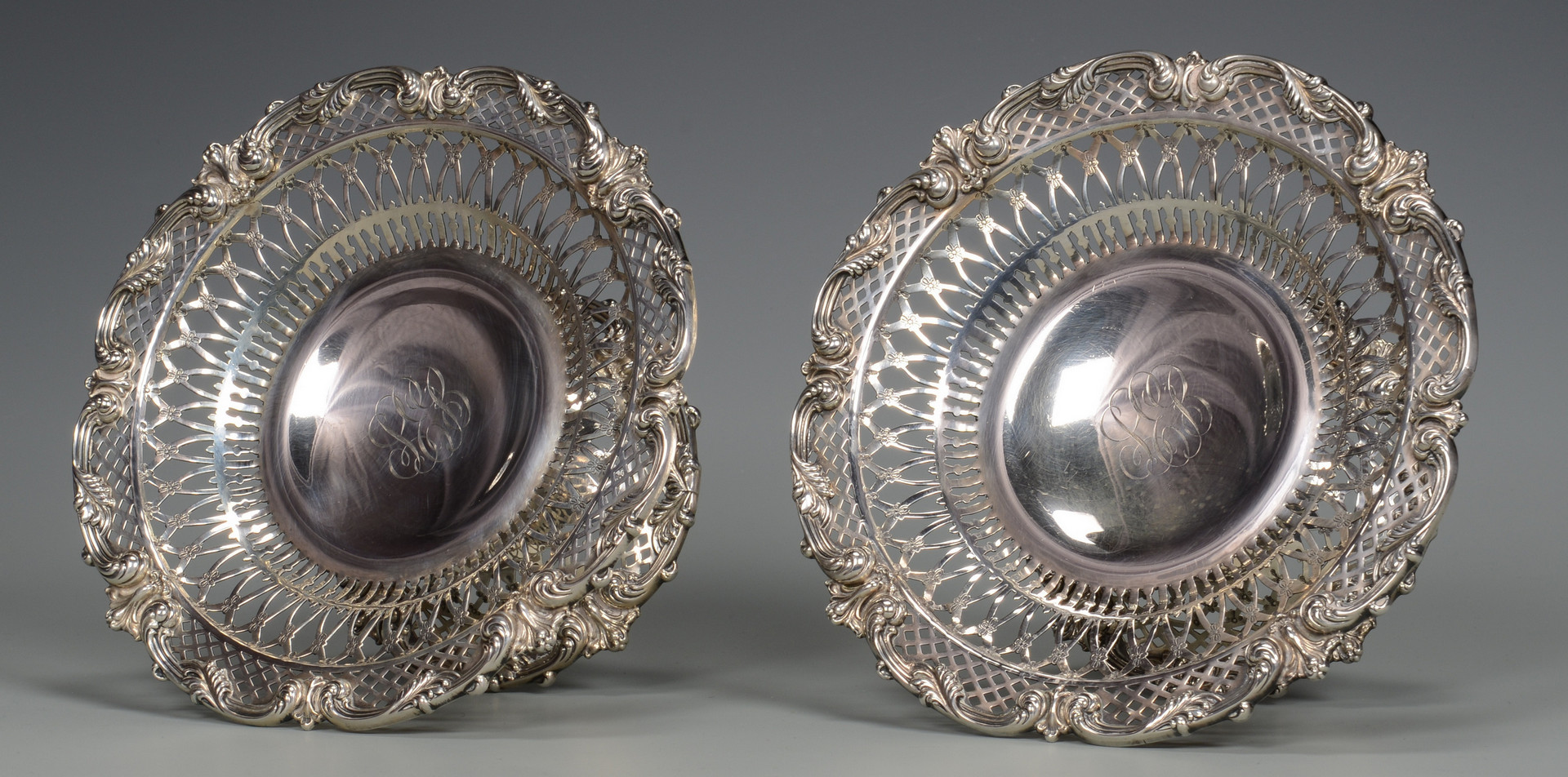 Lot 608: 2 Redlich Sterling Compotes