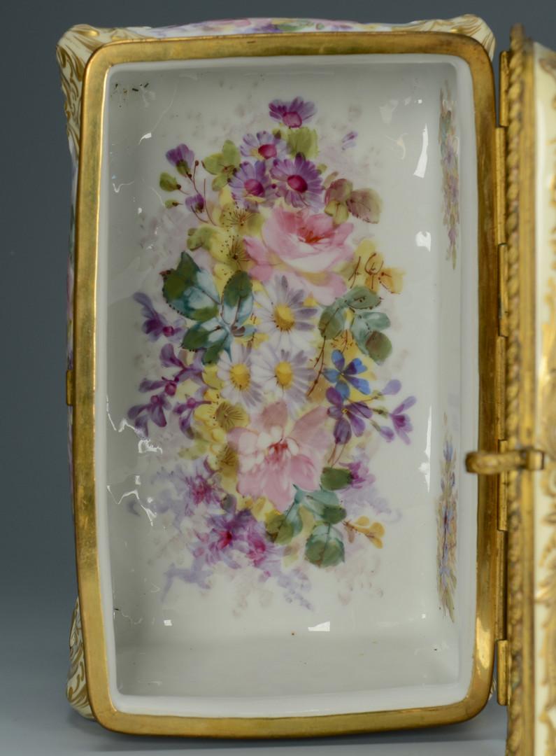 Lot 60: Sevres pattern casket, signed Callot